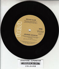 "PHYLICIA ALLEN  Josephine Superstar 7"" 45 rpm record NEW + jukebox title strip"
