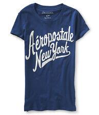 Aeropostale Graphic Women's Tee New York XS T-Shirt Navy + 25% off next order*