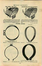 1899 AD Ideal Bicycle Toe Clip Hhaley Leather Trouser Pants Leg Guard Pad Lock
