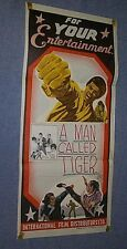 2 handmade Leng mian hu A MAN CALLED TIGER posters 1 of a kinds Yu Wang