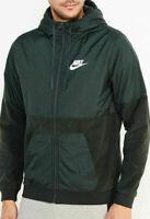 Nike Mens Sport Full Zip Fleece Hoodie Jacket Size Small 863781 332 Fern Green