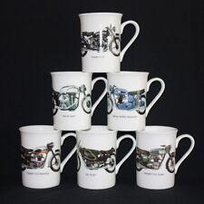 6 FINE BONE CHINA TRIUMPH VINCENT NORTON  AJS CLASSIC VINTAGE MUGS CUPS SET