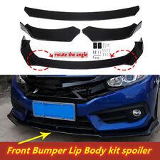 New Listing4pcs Glossy Black Car Front Bumper Lip Body Kit Spoiler Splitters For Camry Fits 2008 Honda Accord