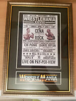 WWF Wrestlemania 28 Framed Memorabilia The Rock V John Cena Wrestling Undertaker