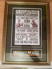 Wwf Wrestlemania 28 Framed Memorabilia The Rock V John Cena Wrestling Undertaker