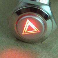 16mm CAR Emergency Hazard Warning Light Switch Push Button Switch ON/OFF Sales