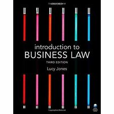 Introduction to Business Law by Jones, Lucy