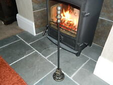 Hand Forged Wrought Iron Fire Poker with Stand  Open log Fire Contemporary