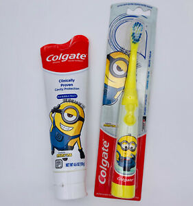 Colgate Kids Battery Powered Minions Toothbrush + Toothpaste Exp 09/2022