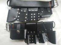 Scaffold Black Strong Leather Tools Belt - Full Tool Set Frog Level Tape Holder