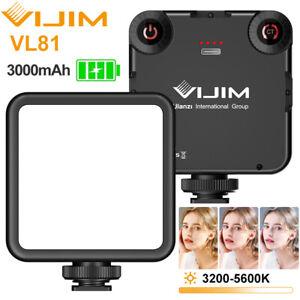Led Videolicht VIJIM VL81 Videoleuchte Dimmbare Kamera Licht mit 3000mAh Akku DE