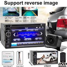 Stereo Bluetooth DVD CD Player Car Radio HD Touch Screen FM/AUX/USB/TF +Camera