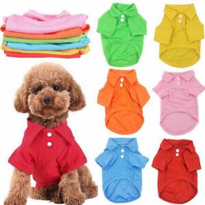 Hot Sale Dog Shirt Vest Jacket Pet Clothes Puppy Costume Cat T-Shirt Coat Outfit