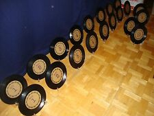 Set of Wedding Event Reception 1 - 10 Table Numbers on 45 Records w/Stands