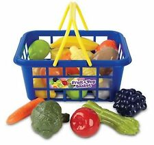 Kids Children's Shopping Role Play Toy with Fruits & Vegetable Basket Xmas Gift