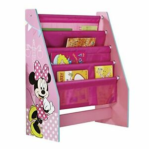Minnie Mouse Kids Sling Bookcase - Pink Bedroom Storage