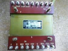 Transformer Adjustable Taps 860va 220volt 3 Secondaries 110 110 And 20 Volts