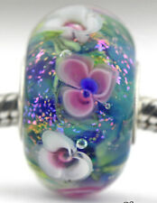 MONET'S WATER LILIES Mandy Ramsdell sterling silver european charm bead glass