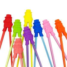 2X(1 Pair Chopsticks For Sushi Baby Kids Cartoon Food Sticks Easy Use Fun L B5H4
