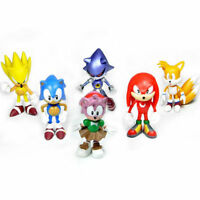 6pcs Cute Game Sonic the Hedgehog Action Figures Doll Set Kids Toys