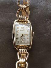 ⌚Vintage Bulova 21Jewels wristwatch mint condition original box and paper c.1940