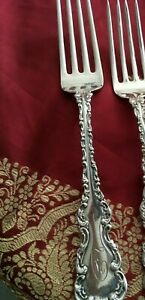 "Whiting Louis XV Salad Fork, Sterling Silver, Mono ""D"", 6 7/8"""