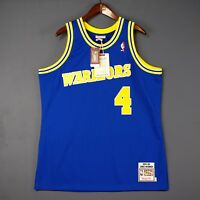 100% Authentic Chris Webber Mitchell Ness 93 94 Warriors Jersey Size 40 M Mens