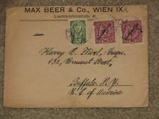 Austria cover to Buffalo, NY, MAX BEER & CO., WEIN  IX