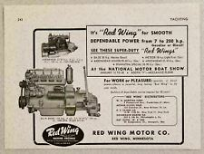 1951 Print Ad Red Wing Super Duty Marine Engines Red Wing,MN