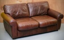 JOHN LEWIS MADISON TWO SEATER BROWN LEATHER SOFA - MATCHING 2/3 SEATER AVAILABLE