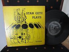"""STAN GETZ - PLAYS CLEF 10"""" LP"""