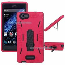 For BLU Life One XL (X030Q) Heavy DutyDefender Kickstand Case + Screen Protector