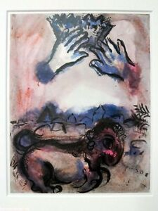 MARC CHAGALL. El asno simbolo de Judasc. 1962 - 33x25 cm
