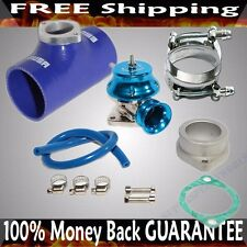 "BLUE ADJ Type RS Blow off Valve+ 3""  Silicone Type S Adapter+SS Clamps COMBO"