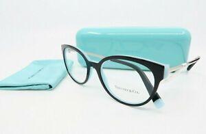 Tiffany & Co. TF 2191 8055 New Black / Tiffany Blue Cat Eye Glasses with case