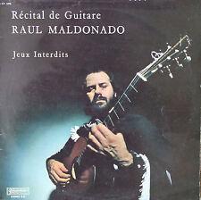 """Vinyle 33T Raul Maldonado """"Récital de guitare - Jeux interdits"""""""