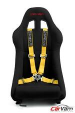 """Cipher Auto Racing Harness Set -Yellow 4 Point 2"""" w/ Camlock Quick Release- Pair"""