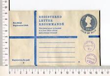 21725) Isle Of Man Reg. Letter 23,1/2p Uprated 6p+ 12,1/2 En