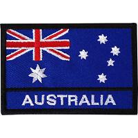 Australia Flag Embroidered Iron / Sew On Patch Australian Hat T Shirt Bag Badge