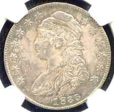 1835 50C AU55 NGC/CAC- CAPPED BUST HALF DOLLAR