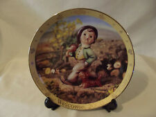 "Hummel Danbury Mint Plate Millennium Collection ""Strolling Along"" Welcome 2000"