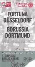 Ticket - Fortuna Dusseldorf v Borussia Dortmund 1996/7