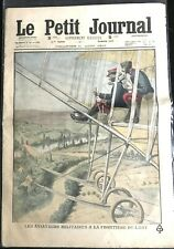 Le petit Journal illustré 21/8/1910; Les aviateurs Militaires à la Frontière Est