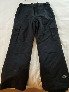 Columbia Omni-Tech, Mens Medium, Black Snow/Ski Pant, Adjustable Waist, EUC