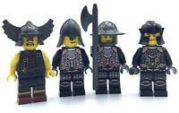 castle figure black knight soldier Lego Skeleton Hooded Warrior Minifig Lot