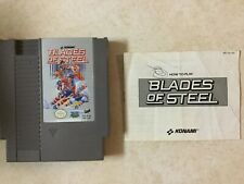 Nintendo Nes Blades Of Steel Cleaned & Tested w/ Instruction Manual Booklet