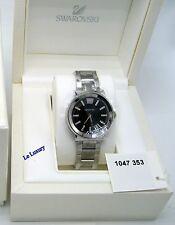 Swarovski Piazza Black Dial Steel Bracelet Ladies'Watch Swiss Quartz - 1047353