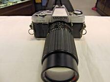 Minolta X-370 35mm Film Slr w Five Star Mc auto Macro 75-200mm 1:4.5