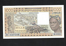 West African State WAS 1000 Francs Mali (1981) P406Db D037186 UNC