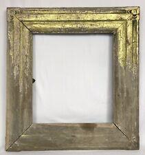 Antique Arts & Craft Gold Gilt Frame 16 1/2 x 18 1/4 Opening - For Restoration